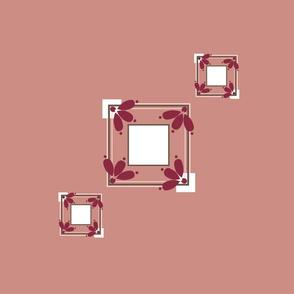 Dusky Pink Treble Tile Motif