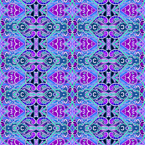 In a Purple Heartbeat fabric by edsel2084 on Spoonflower - custom fabric