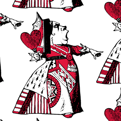 The Queen of Hearts with Red fabric by pond_ripple on Spoonflower - custom fabric