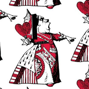 The Queen of Hearts with Red