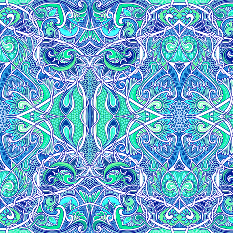 Tangled Paisley Blues fabric by edsel2084 on Spoonflower - custom fabric