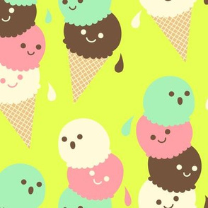 Ice Cream Social - Large Lime