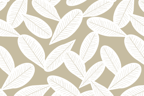 Falling Leaves, Sand  fabric by kateriley on Spoonflower - custom fabric