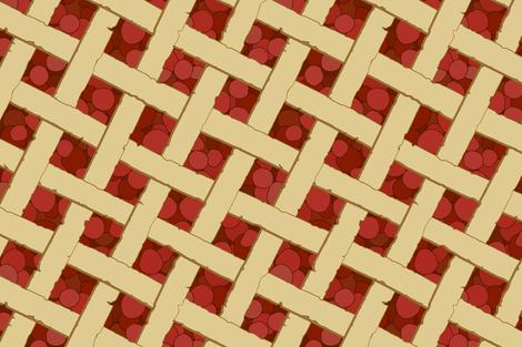 """Summer Picnic"" - Cherry Pie fabric by mjdesigns on Spoonflower - custom fabric"