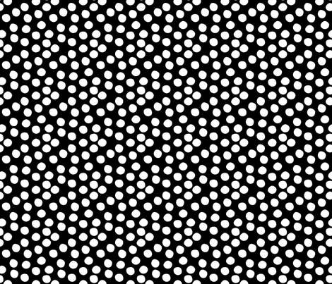 Scatter Dot - Black & White fabric by hugandkiss on Spoonflower - custom fabric