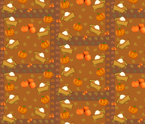 pumpkin_pie fabric by hmilwicz on Spoonflower - custom fabric