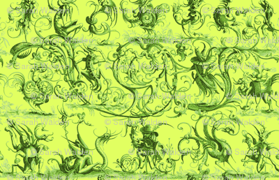 Most Wonderful and Strange Toile ~ Absinthe of Doubt