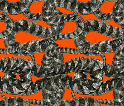 Snake Stripe ~ Disdain and Malice fabric by peacoquettedesigns on Spoonflower - custom fabric