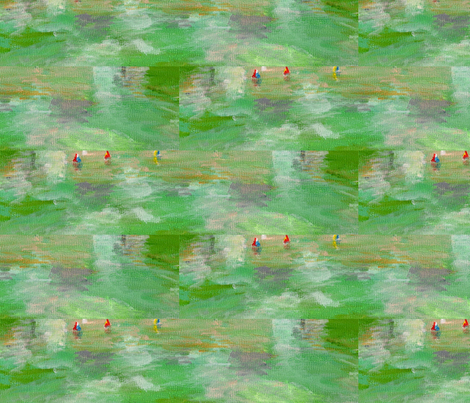 Watercolor Pond fabric by jelder on Spoonflower - custom fabric