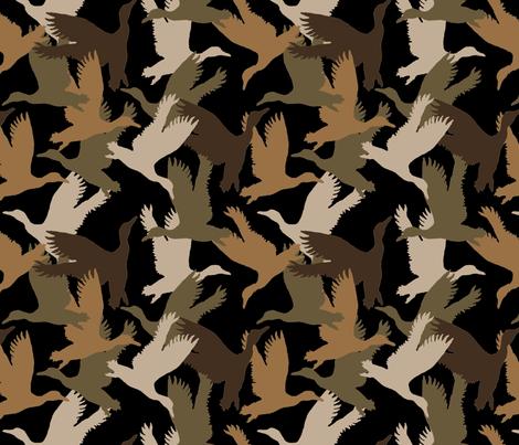 Flying Duck Camo fabric by paragonstudios on Spoonflower - custom fabric