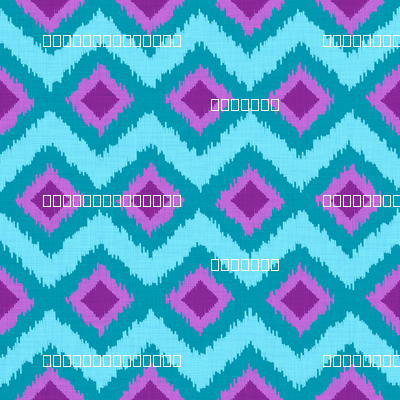 Festival Ikat in Aqua and Violet