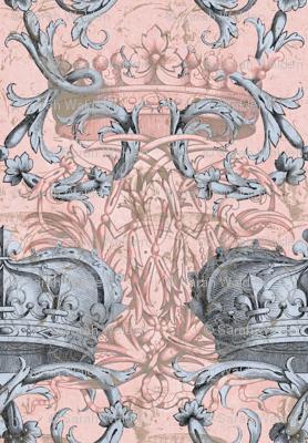 Crown Damask ~ La Dauphine II ~ Gilt and Silvered