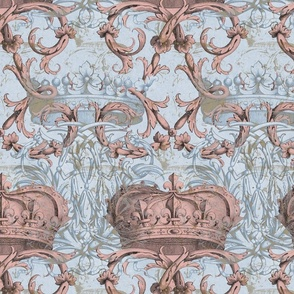 Crown Damask ~ Le Dauphin II ~ Gilt and Silvered