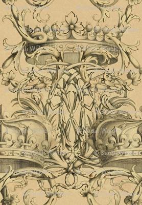 Crown Damask ~ Parchment