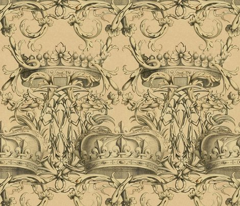 Crown_damask___parchment___peacoquette_designs___copyright_2017_shop_preview
