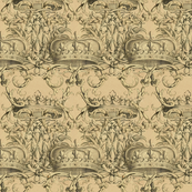 Crown Damask ~ Parchment