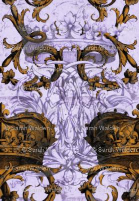 Crown Damask ~ La Reine ~ Gilt and Silvered