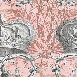 Crown Damask ~ La Dauphine ~ Gilt and Silvered