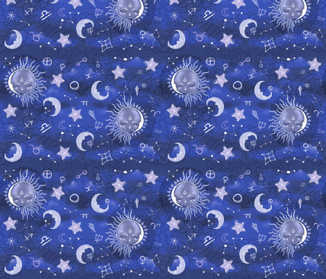 Alchemical Skymap fabric by artytypes on Spoonflower - custom fabric