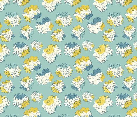 Filled lichen repeat fabric by fionahogarth on Spoonflower - custom fabric