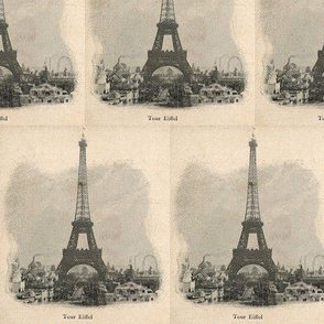 Vintage Paris Eiffel Tower
