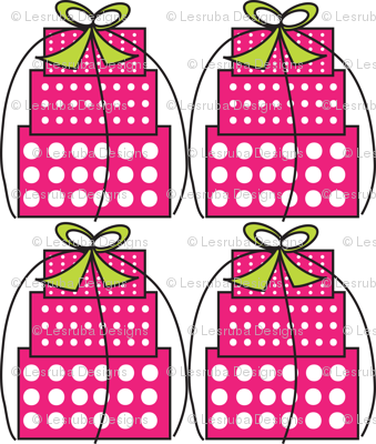 Pink White Polka Dot Gift boxes