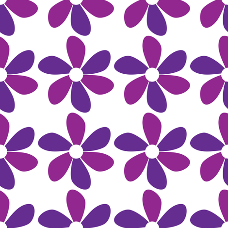 Purple Petals fabric by lesrubadesigns on Spoonflower - custom fabric