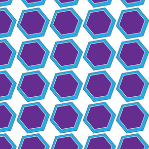 Polygons Purple and Blue