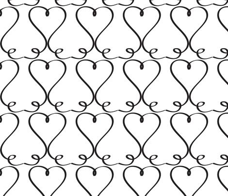 Swirly Heart Art fabric by lesrubadesigns on Spoonflower - custom fabric