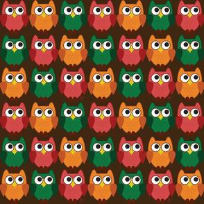 Fall Cartoon Owl