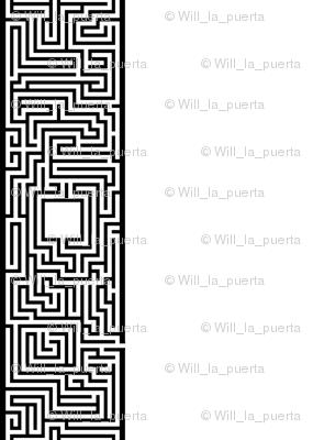 Maze Stripe - BW