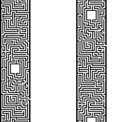 Maze Stripe - BW fabric by will_la_puerta on Spoonflower - custom fabric