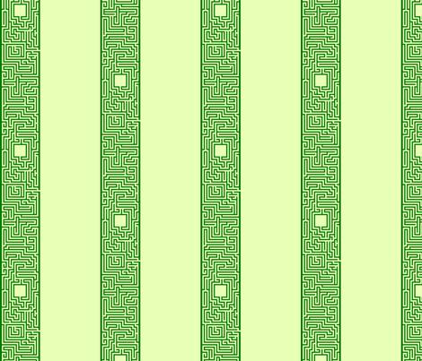 Maze Stripe - Green fabric by will_la_puerta on Spoonflower - custom fabric