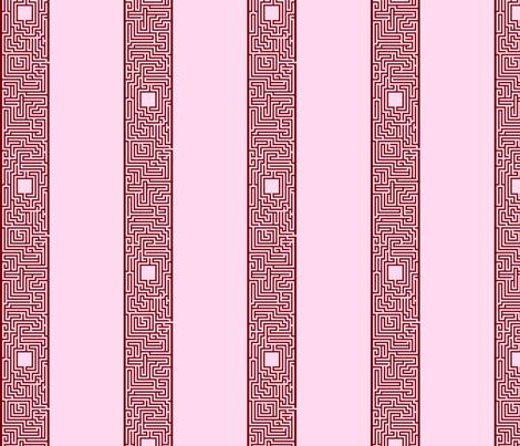 Maze Stripe - Red fabric by will_la_puerta on Spoonflower - custom fabric
