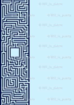 Maze Stripe - Blue