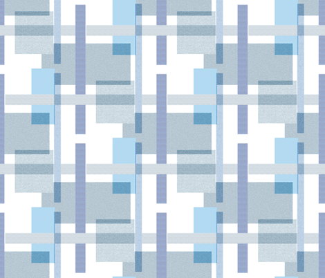 Rectangles in Cool Tones fabric by anniedeb on Spoonflower - custom fabric