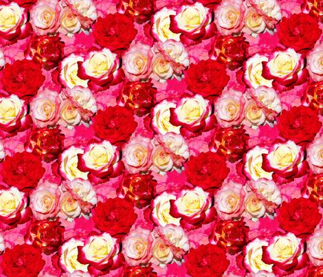 Roses fabric by will_la_puerta on Spoonflower - custom fabric