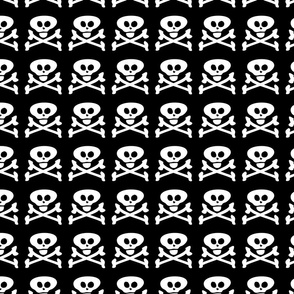 Skull and Crossbones Black and White