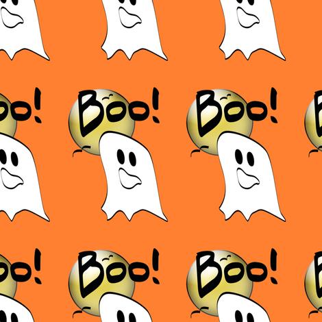 Ghosts Say Boo fabric by lesrubadesigns on Spoonflower - custom fabric
