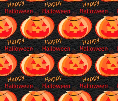 Halloween Jack o Lantern fabric by lesrubadesigns on Spoonflower - custom fabric