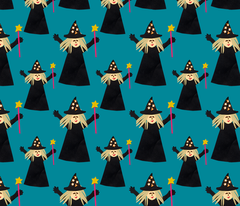 Good Witch fabric by lesrubadesigns on Spoonflower - custom fabric