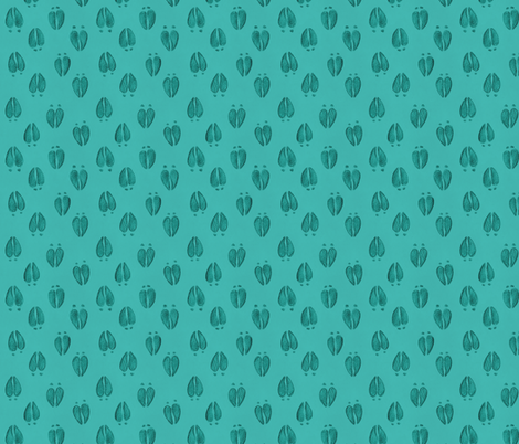 Deer Tracks Aqua Blue fabric by meganmerz on Spoonflower - custom fabric