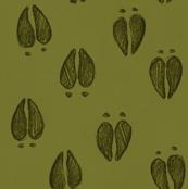 Deer Tracks Leaf Green