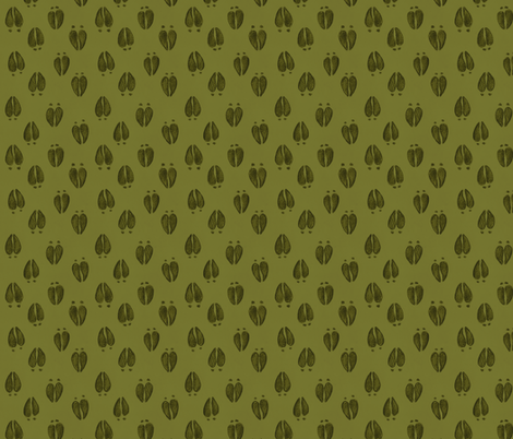Deer Tracks Leaf Green fabric by meganmerz on Spoonflower - custom fabric