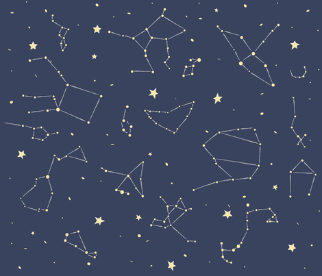 Constellations-01-01 fabric by wysedesigns on Spoonflower - custom fabric