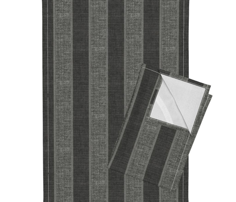 London Fog corded stripe - charcoal