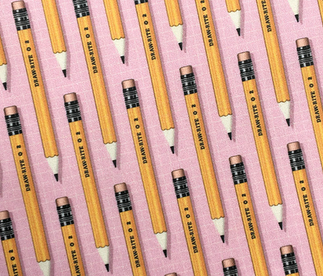 No. 2 Pencil* (Pink Cow) || writing art drawing school office supplies graph paper geek nerd math science