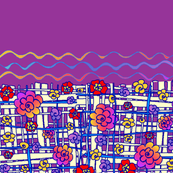 fabric_design_purple_bkgrnd_flower_border