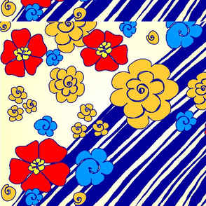 Fabric_designs_blue_stripe_flowers