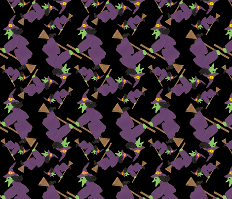Wicked Witches fabric by lesrubadesigns on Spoonflower - custom fabric